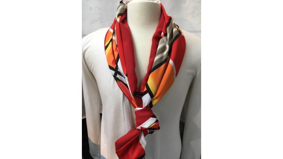 Foulard Rouge et orange