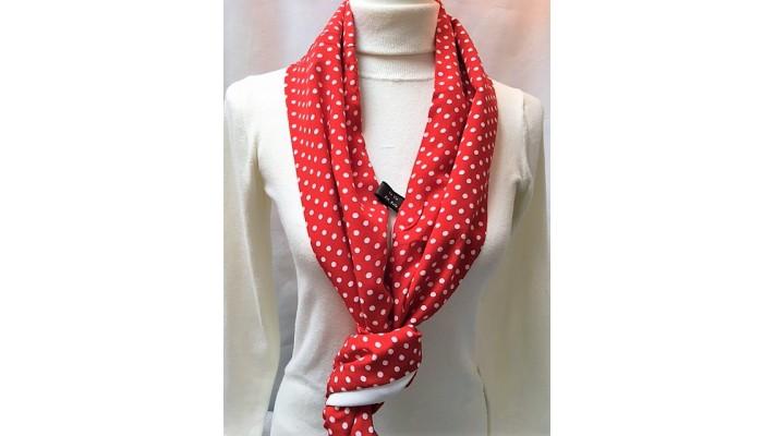 Foulard Rouge et blanc - Pois